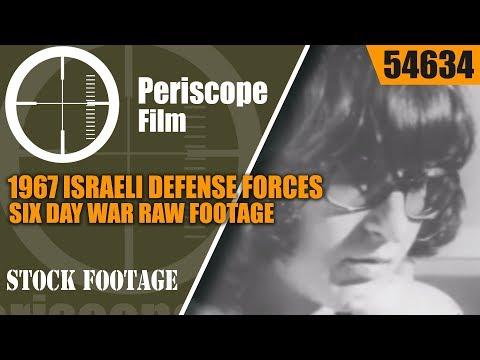 1967 ISRAELI DEFENSE FORCES  SIX DAY WAR RAW FOOTAGE 54634