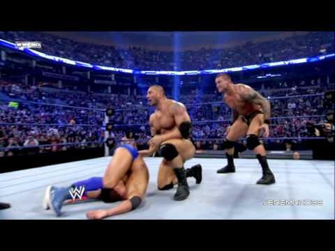 Randy Orton RKO on Batista - Survivor Series 2008