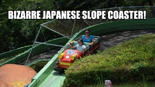 Totally Bizarre Slope Shooter Roller Coaster POV - Japan - Nagoya Higashiyama Zoo