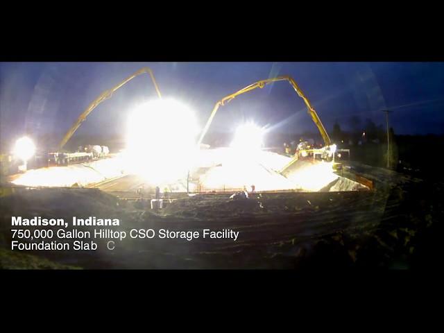 Madison, IN - Hilltop CSO Storage Facility Concrete Pour