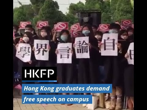 'Don't silence me': Hong Kong graduates protest free speech issues on campus