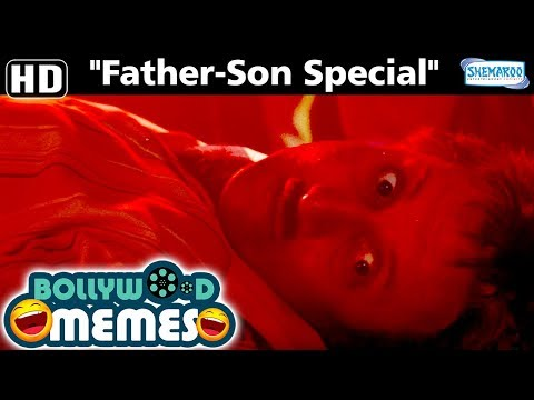 Father's Day Video - Father-Son Special - Dil [1990] movie comedy scene - Bollywood funny Memes