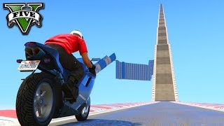 GTA V Online: UMA RAMPA para o CÉU COM MOTOS!!! INSANO