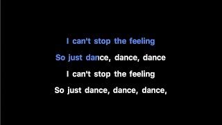 Justin Timberlake - CAN'T STOP THE FEELING! Karaoke