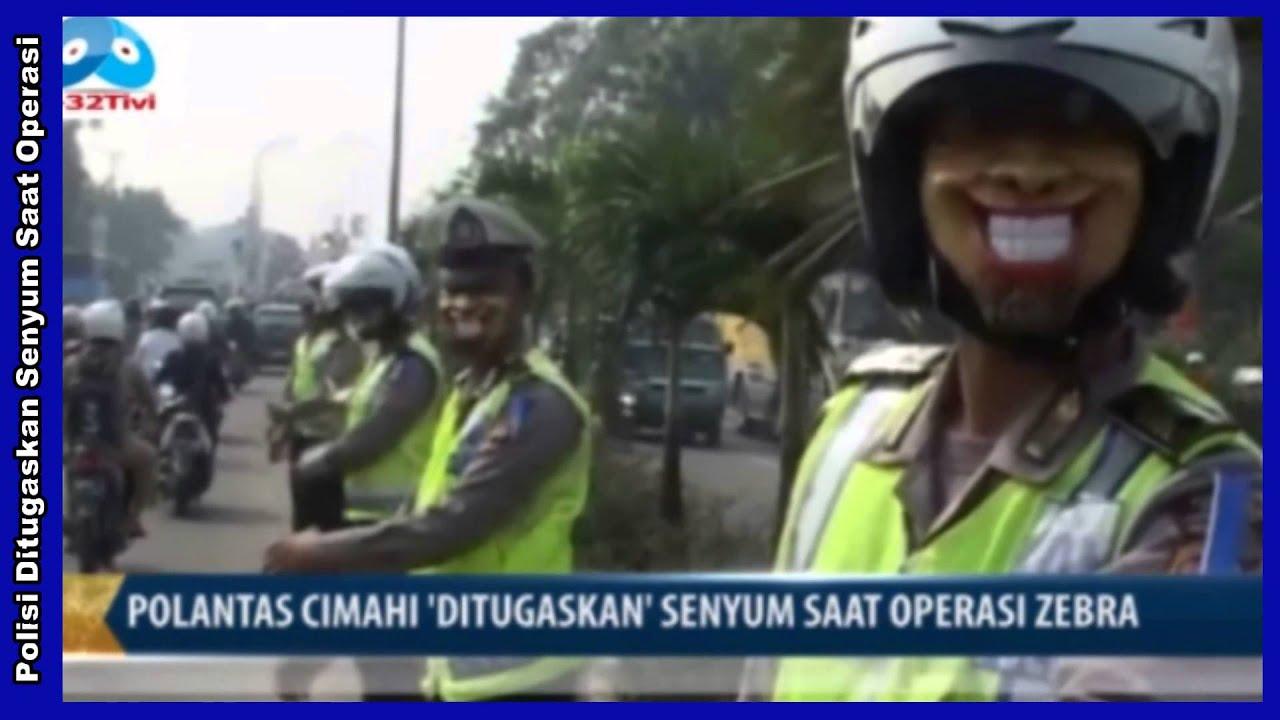 Video Lucu Gokil Abis Polantas Cimahi Ditugaskan Senyum Saat Operasi Zebra Dengan Memakai Masker T