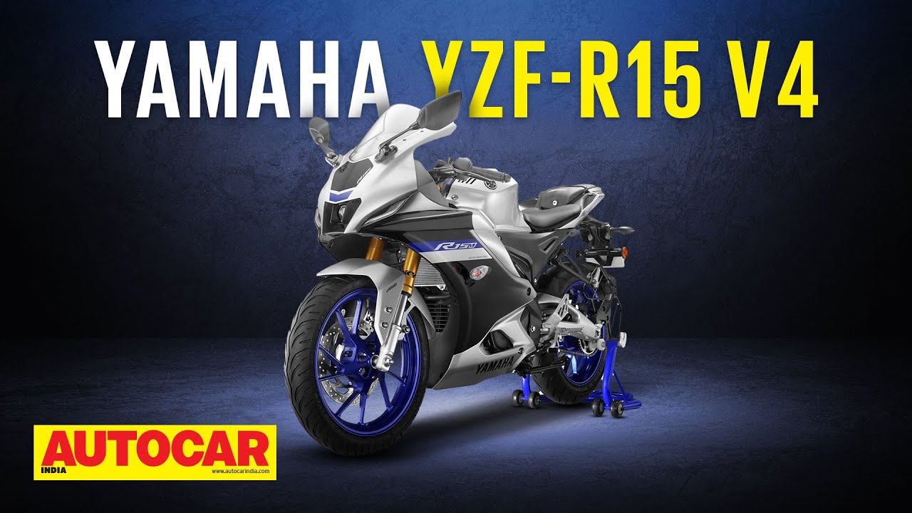 Download 2021 Yamaha R15 V4 & R15M - New look & more features for junior sportbike |First Look| Autocar India
