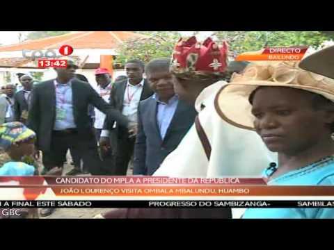 João Lourenço visita Ombala Mbalundu, Huambo