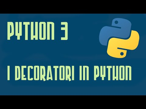 I Decoratori - Python 3 6 Italiano Video Corso Concetti Intermedi