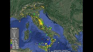 Oltre mille terremoti dell'ultimo mese in italia (dal 15 febbraio al marzo 2020). una media di 33 eventi giorno, contando naturalmente anche quelli mol...