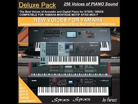 New Patch of Piano for Yamaha S90XS Motif XS Motif XF