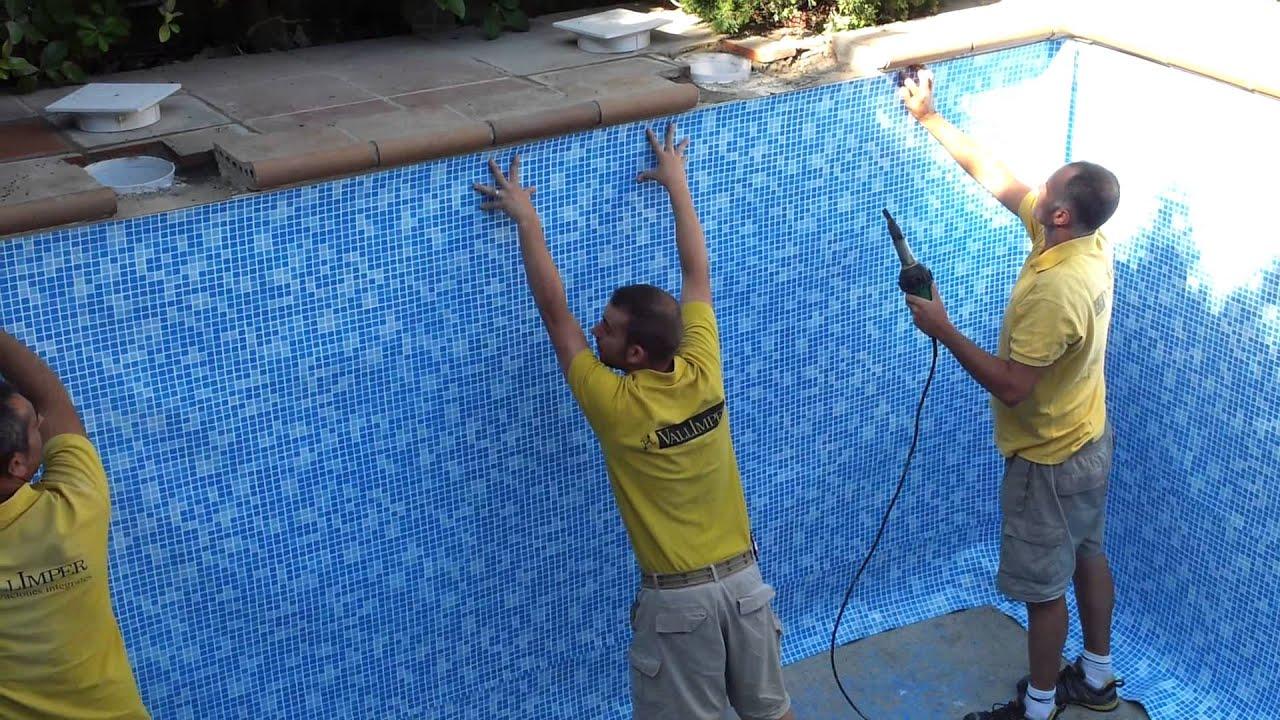Vallimper s a video instalacion piscinavallimper video for Piscinas de pvc