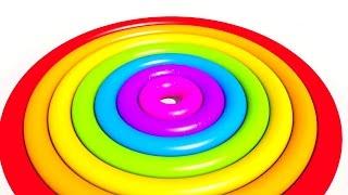 Радужный Круг!Учим цвета на английском. Развивающие мультики и обучающие видео обзоры для детей