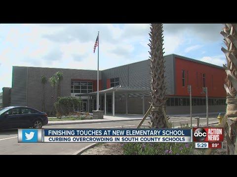 Finishing touches at new Hillsborough elementary school
