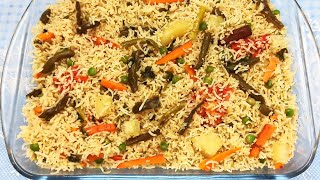Vegetable Pulao | How to make Simple Vegetable Pulao | Easy Rice Recipes | By Mrs. Norien