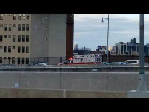 FDNY EMS Responding On The Triborough Bridge In Manhattan, New York