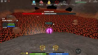 ROBLOX [MOUNTS] Wizard Simulator 1V1 MAGMA KING BOSS