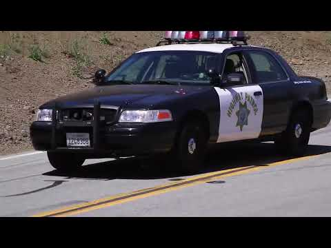 High Speed Chase - Mulholland Highway 'The Snake' Canyon CHP Police & Motorcycles