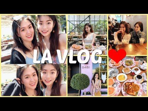 【VLOG】👄和我们一起去LA吧🌵🌺  和姐妹说走就走的旅行