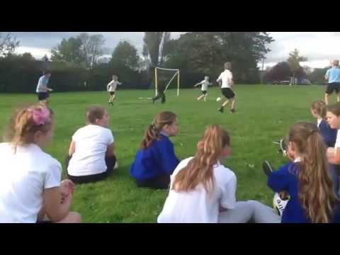 Year 5 Football PE Lessons with North Shore Academy. October 2014