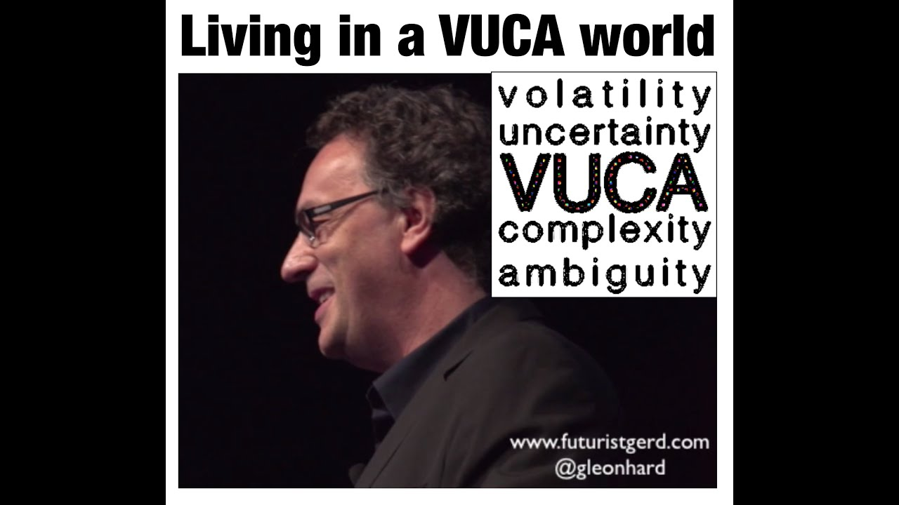 Living In A Vuca World Volatility Uncertainty Complexity Ambiguity Futurist Gerd Leonhard