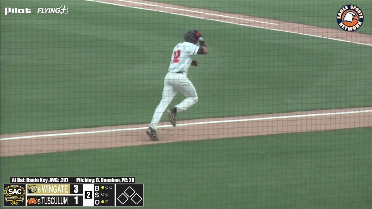 VIDEO: Dante Key HR vs Wingate in 2017 SAC Baseball ...