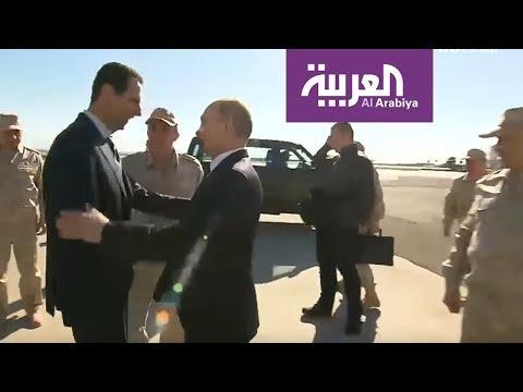 بوتين يستقبل الأسد في قاعدة حميميم  - نشر قبل 8 ساعة