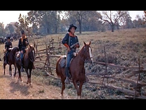Musique+Cinéma:The Horse Soldiers- I Left My Love- Les Cavaliers (Lyrics)