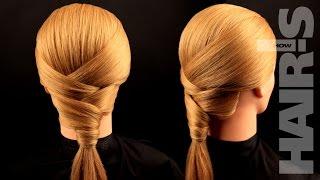 Делаем прическу «Лилия» с оригинальным плетением - видеоурок (мастер-класс) Hair's How