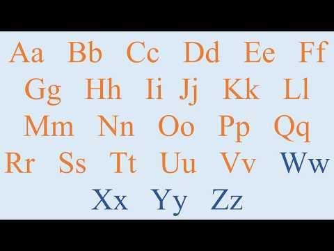 Алфавит Английский язык учим буквы