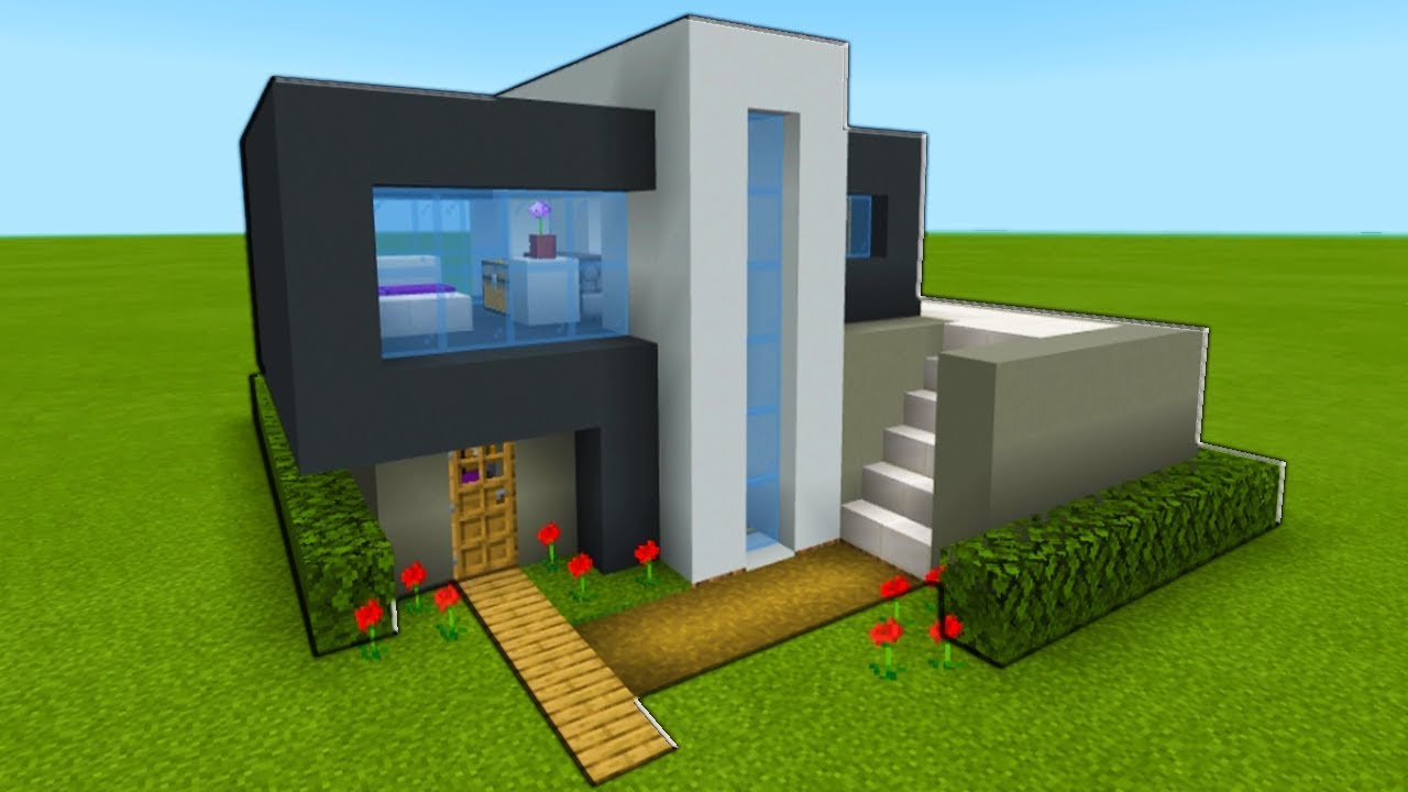 Minecraft Tutorial How To Make A Modern House 2019 Easy Modern House Tutorial Youtube