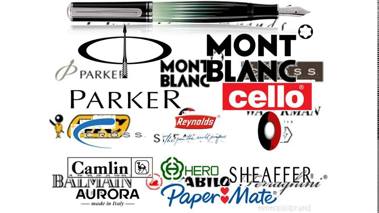 List Of Car Brands And Logos >> pen brands - YouTube