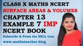 Chapter 13 Surface Areas and Volumes Example 7 Class 10 Maths NCERT