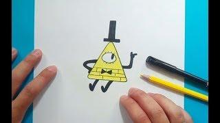 Como dibujar a Bill Cipher paso a paso - Gravity Falls | How to draw Bill Cipher - Gravity Falls