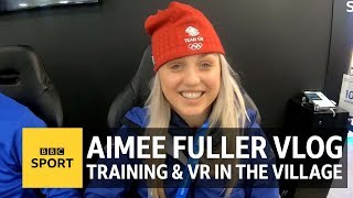 Life in the Pyeongchang 2018 athlete's village: Aimee Fuller's Winter Olympics vlog - BBC