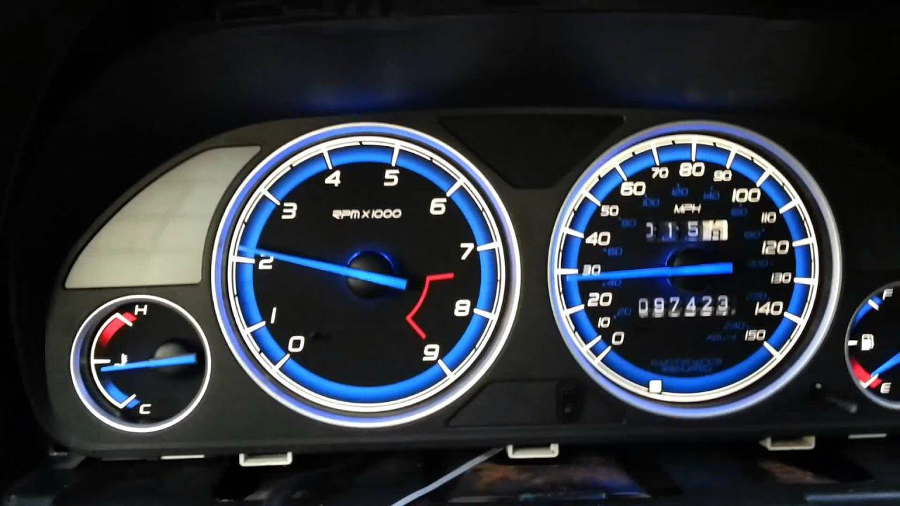 Honda Prelude 5th Generation Vtec Gauge Cluster Day Time
