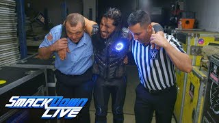 Mustafa Ali receives help after Samoa Joe