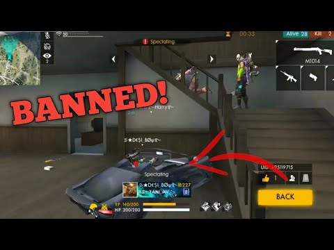 FREE FIRE | HACKER BANNED LIVE ON STREAM | KILLED BY A HACKER !!