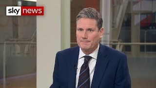Sir Keir Starmer: 'Inevitable' Labour will press no confidence vote if Brexit deal rejected