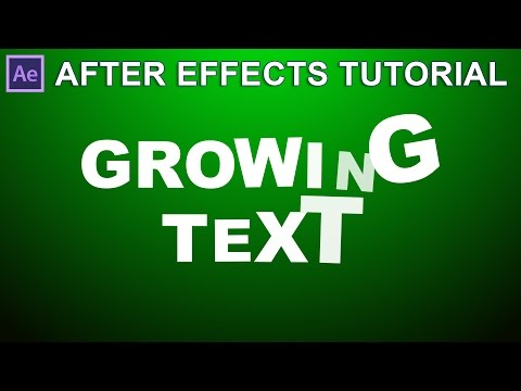 AFTER EFFECTS TUTORIAL - KINETIC GROWING TEXT EFFECT