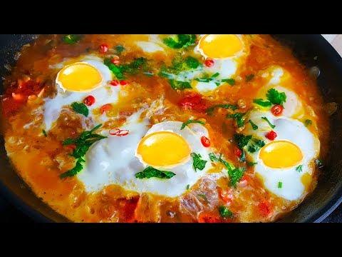 خواص زردجوبه با  مرغ Egg Breakfast تخم مرغ با بادنجان رومی - Скачать видео!