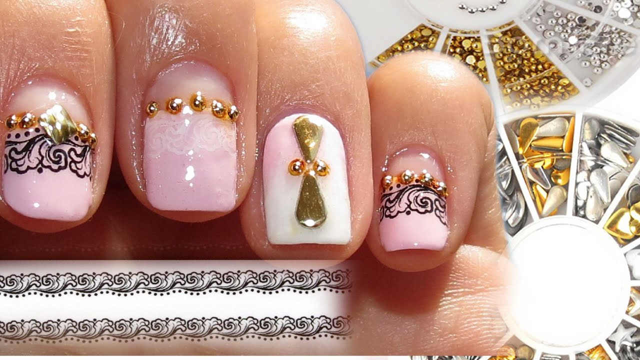 Nail Stud Designs Gallery - simple nail design ideas for beginners