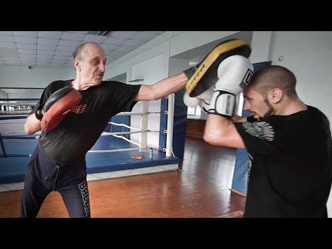 Марк Мельцер показал скорость в 74 года! Профессиональный боксер против тренера