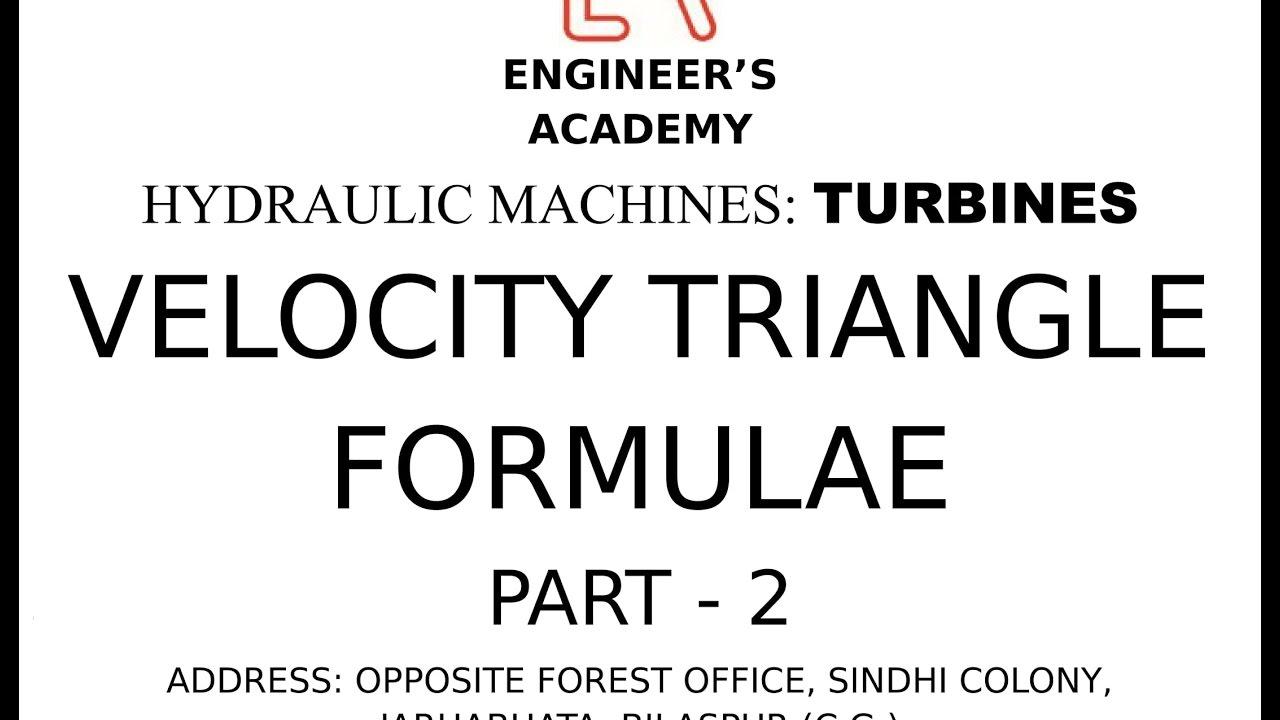 small resolution of turbine formulae hydraulic machines 2