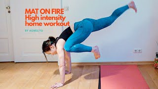 Mat on Fire! High intensity workout at home