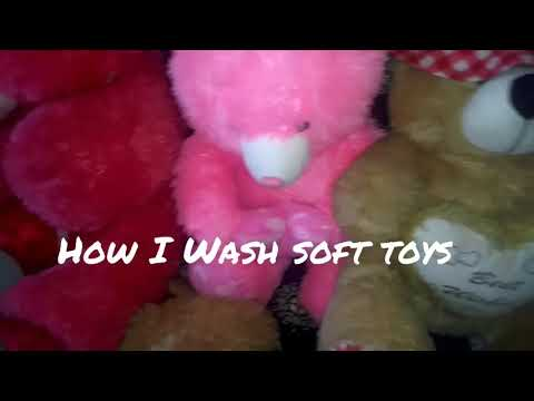DIY/Easy way to clean soft toys at home/ सफाई soft toys की घर पे
