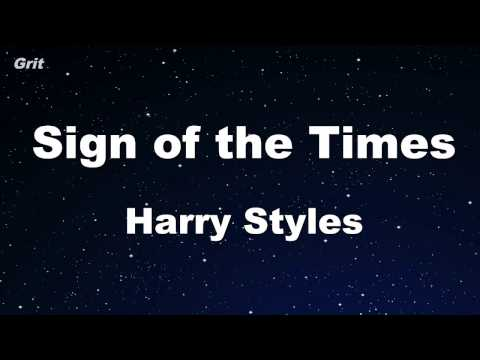 Sign of the Times - Harry Styles Karaoke 【No Guide Melody】 Instrumental