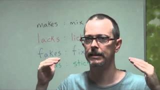 Q&A: makes VS mix, lacks VS licks, fakes VS fix, stakes VS sticks (American Pronunciation)