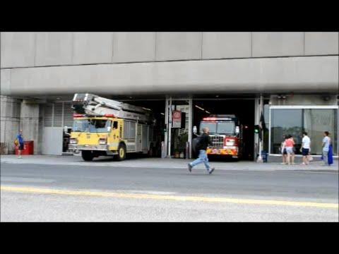 MONTREAL FIRE TRUCKS RESPONDING FROM STATION 20