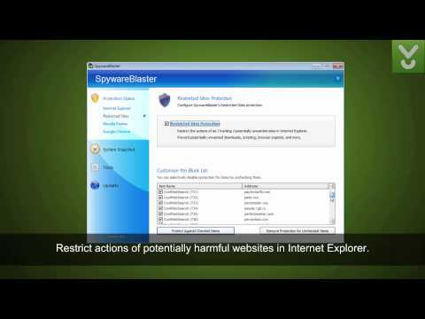 SpywareBlaster - Prevent the installation of the spyware - Download Video Previews