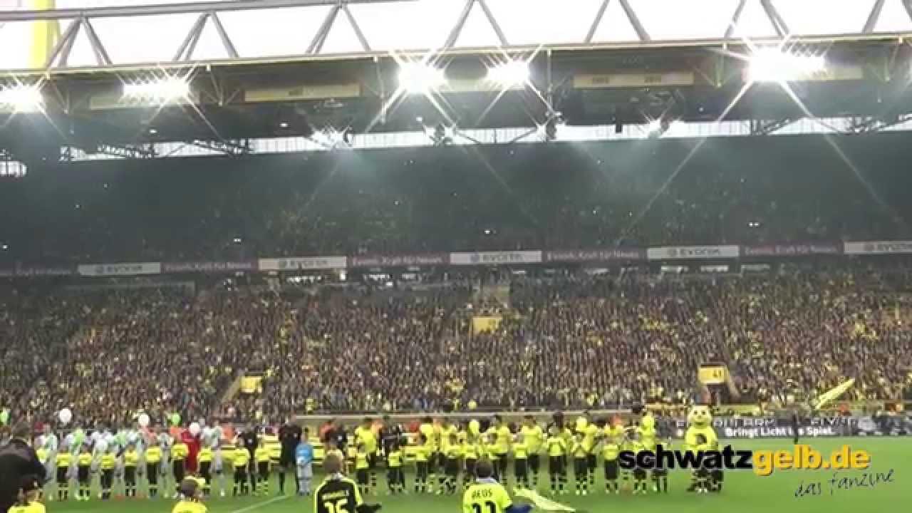 Gedenkminute Alfred Niepieklo BVB - Wolfsburg 2-1